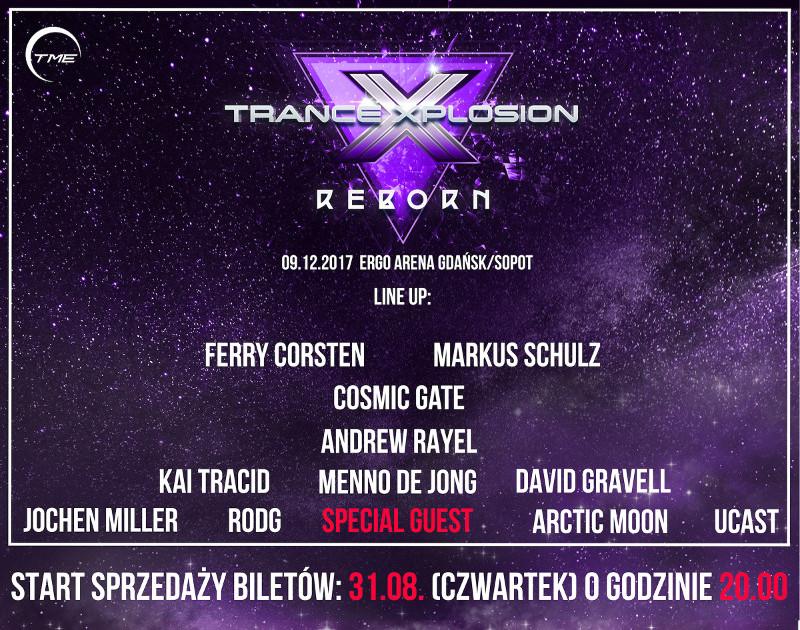 trance xplosion reborn 2017 lineup bilety cena ergo arena sklep abilet wlotki
