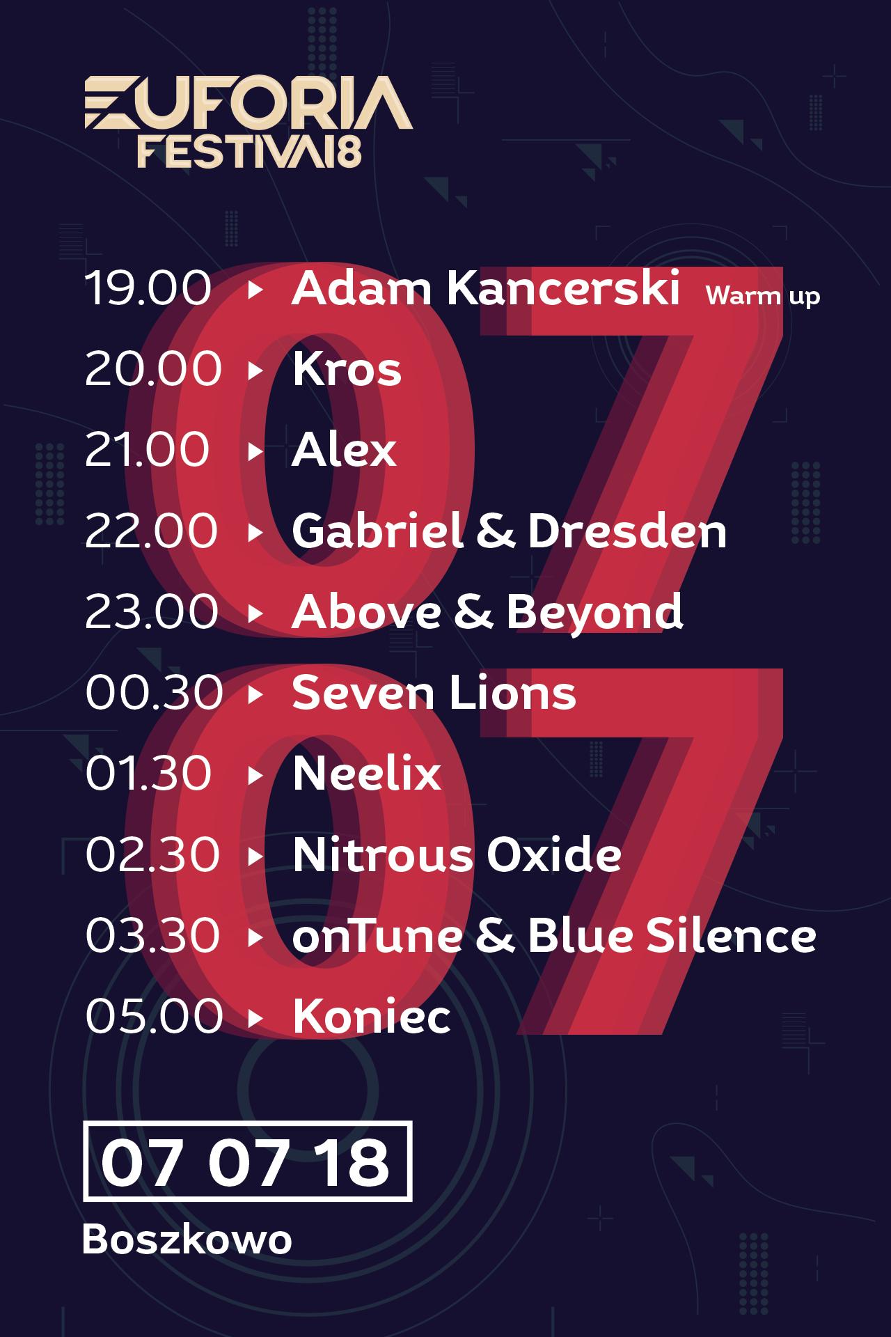 euforia boszkowo plaża hotel sulikowski nocleg wynajem back forth tranceformations line up 2019 above beyond neelix