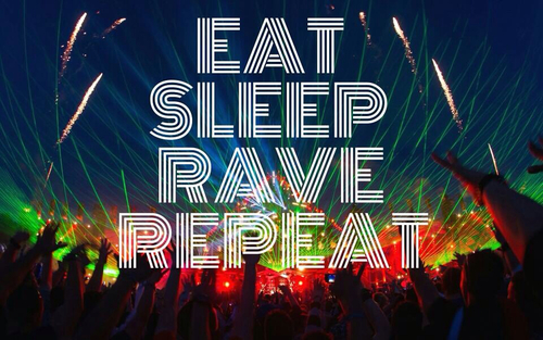 eat sleep rave repeat photo events clubs impreza trance house techno edm
