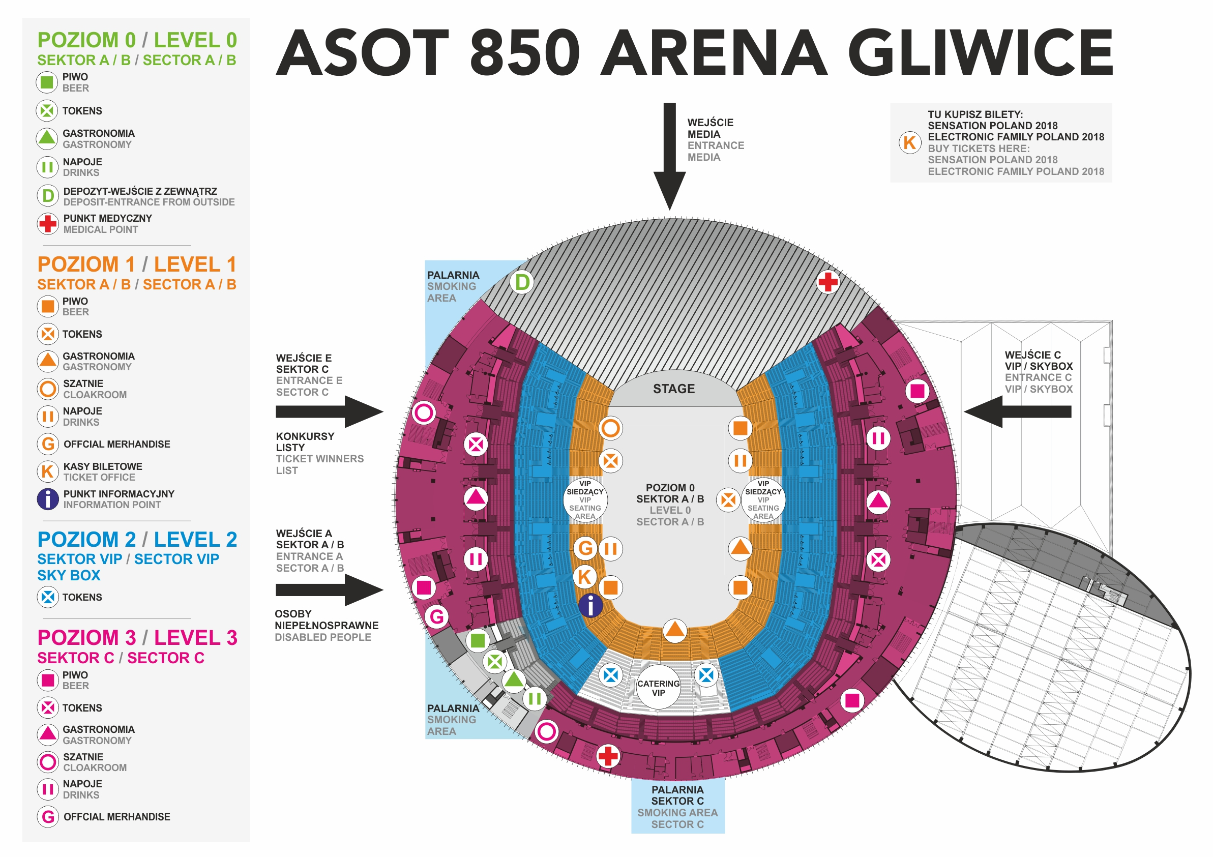 asot a state of trance 2018 gliwice gym stadium ticket vip maps info