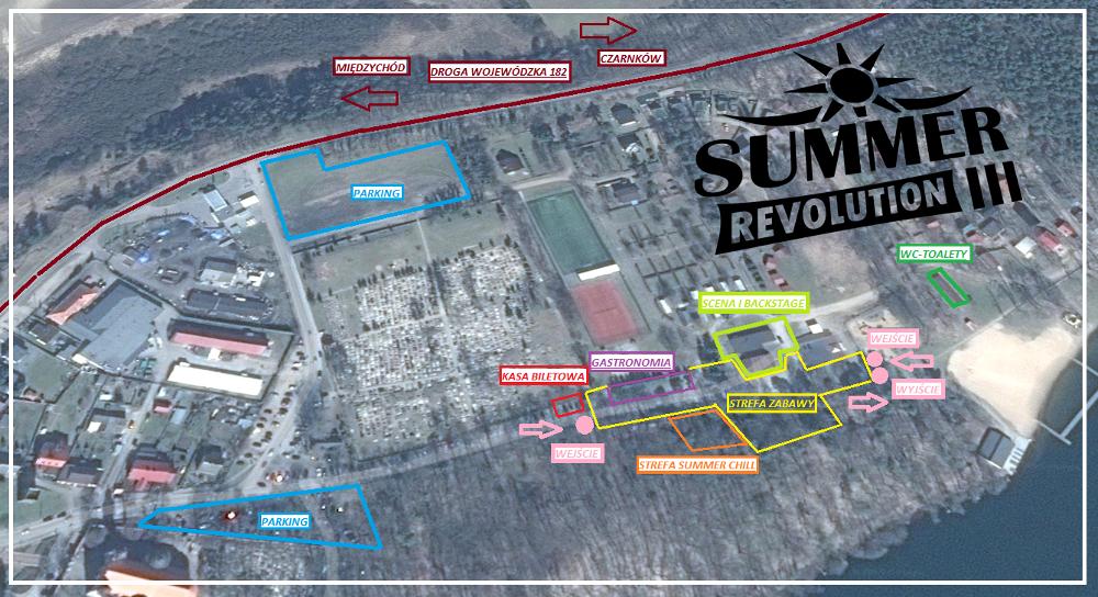 summer revolution III mapka trasa info organizacyjne hazel lubasz dj set bilety vip