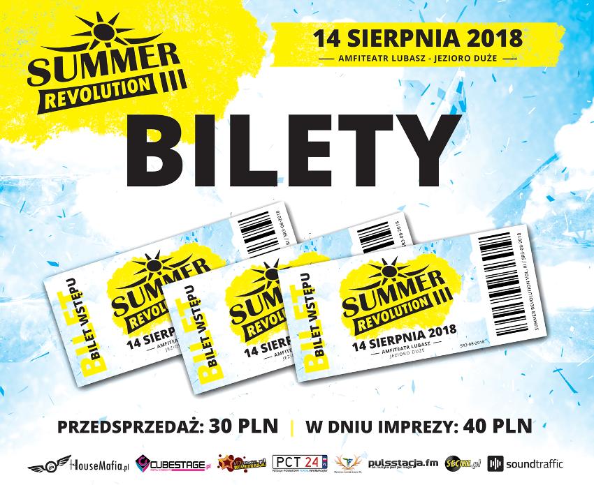 sprzedaż biletów summer revolution 2018 dj set vip ticket kup wlotki line up timetable rozpiska harmonogram lubasz