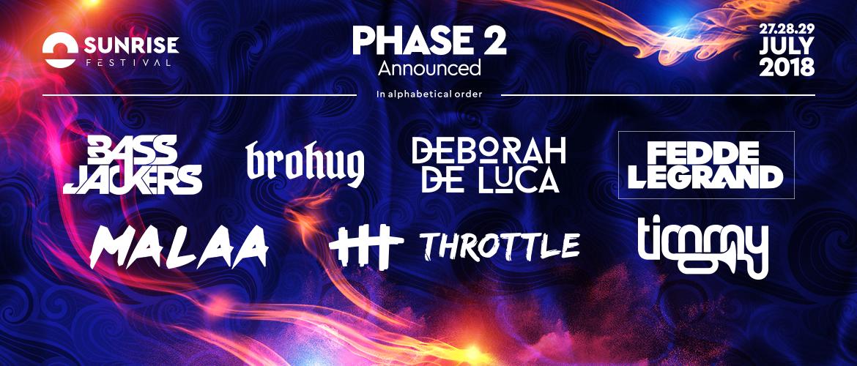 sunrise festival 2018 ostatni kołobrzeg phase 2 faza 2 line up bilety do kupienia cena vip time table
