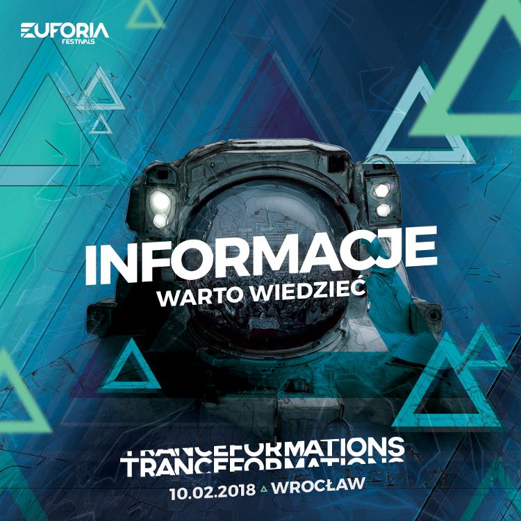 informacje organizacyjne info bilety tranceformations transformations 2018 wrocław hala stulecia